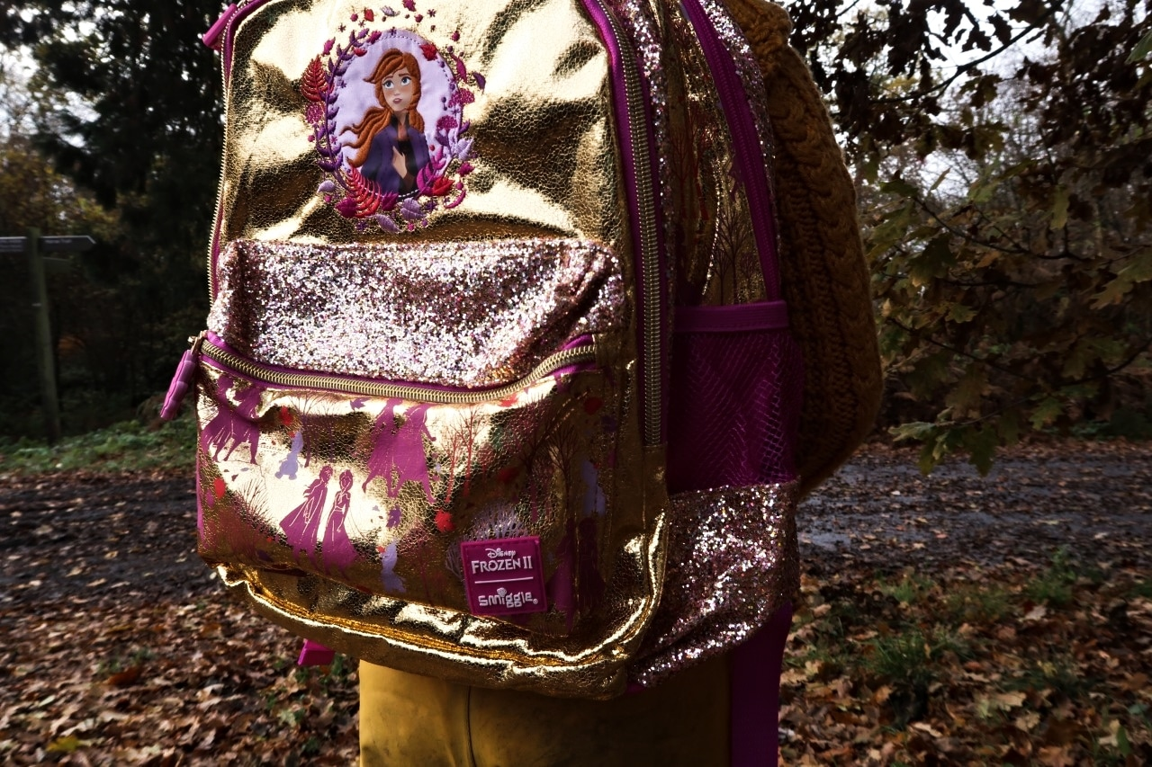 child wearing an Anna rucksack