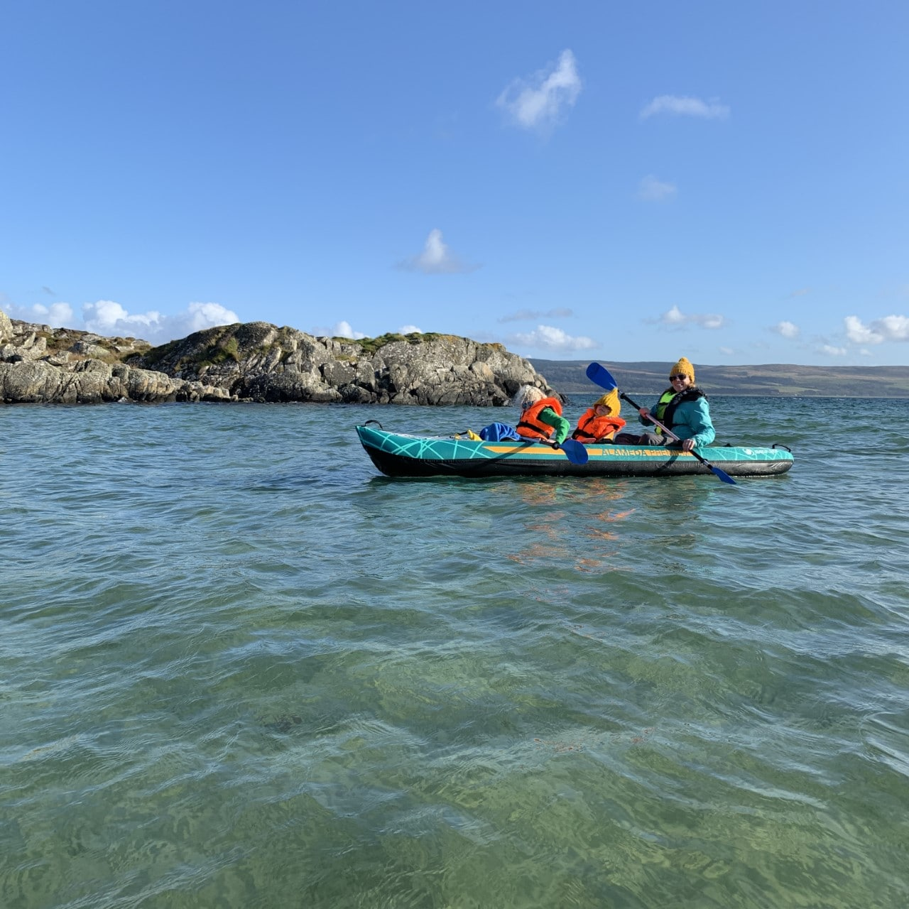 kayaking around Gigha