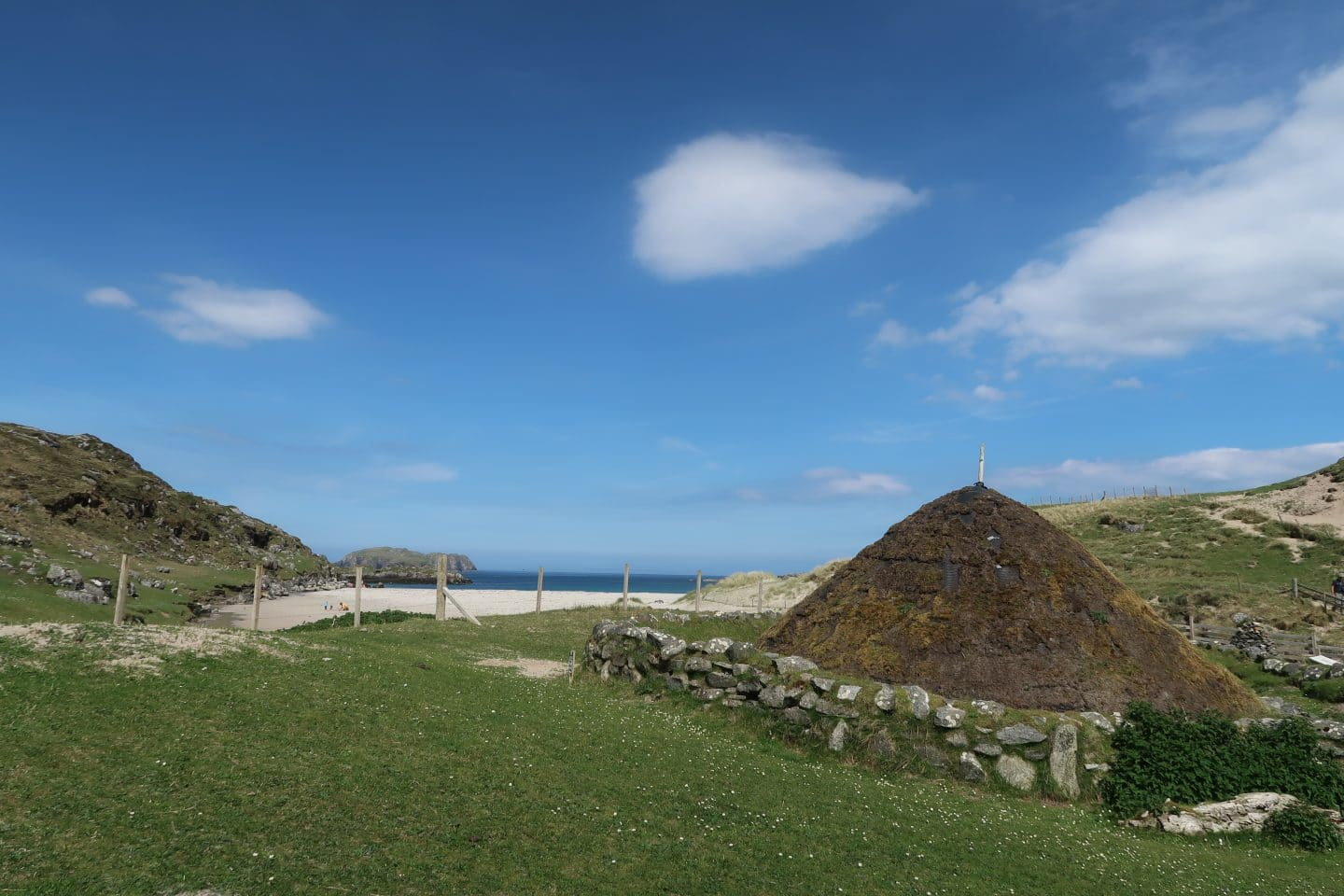 iron age house reconstruction Hebrides