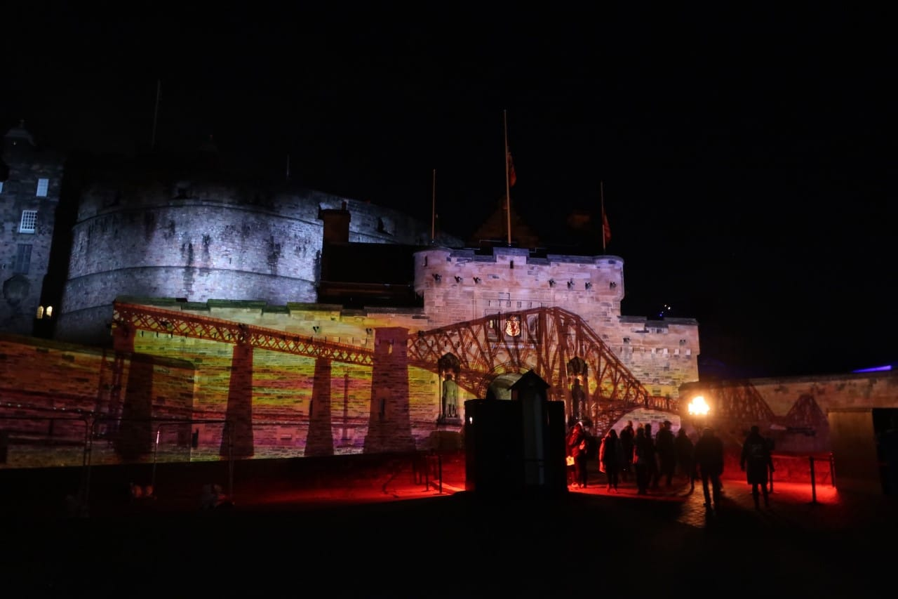 Castle of light Edinburgh castle