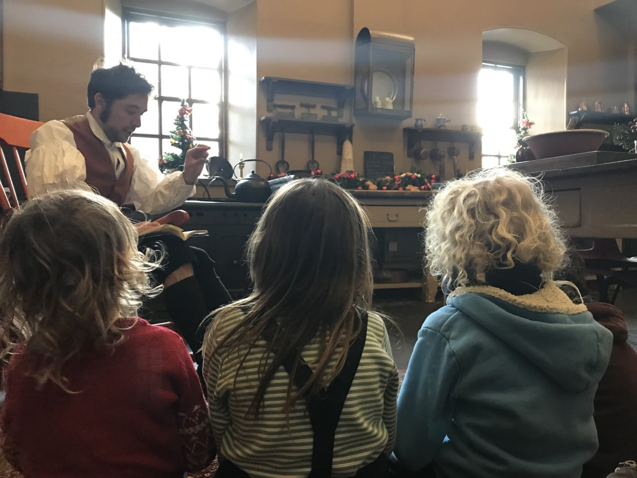 Callander House, children listening to stories