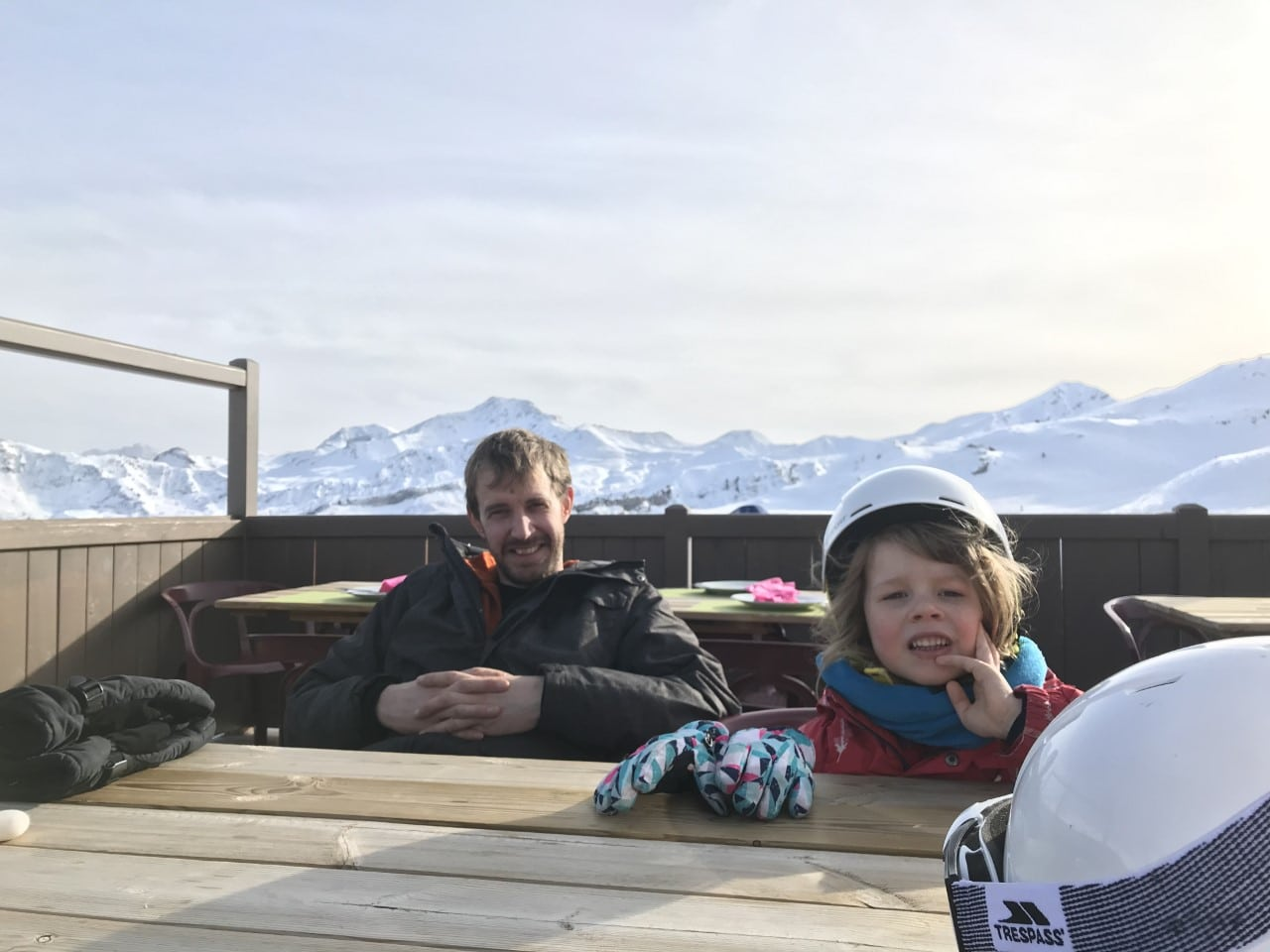cafe high in French Alps for skiers
