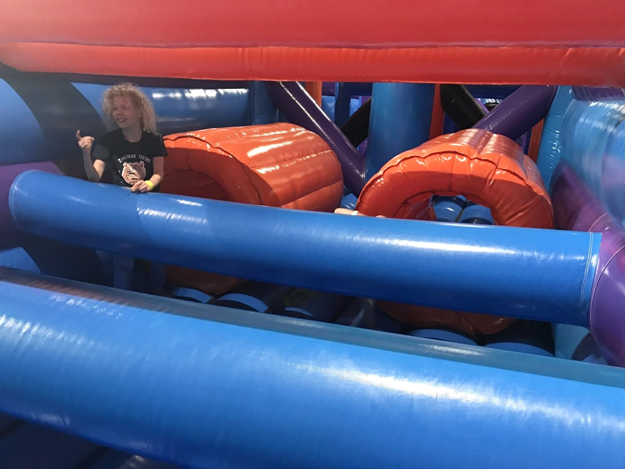 kids inflatable course
