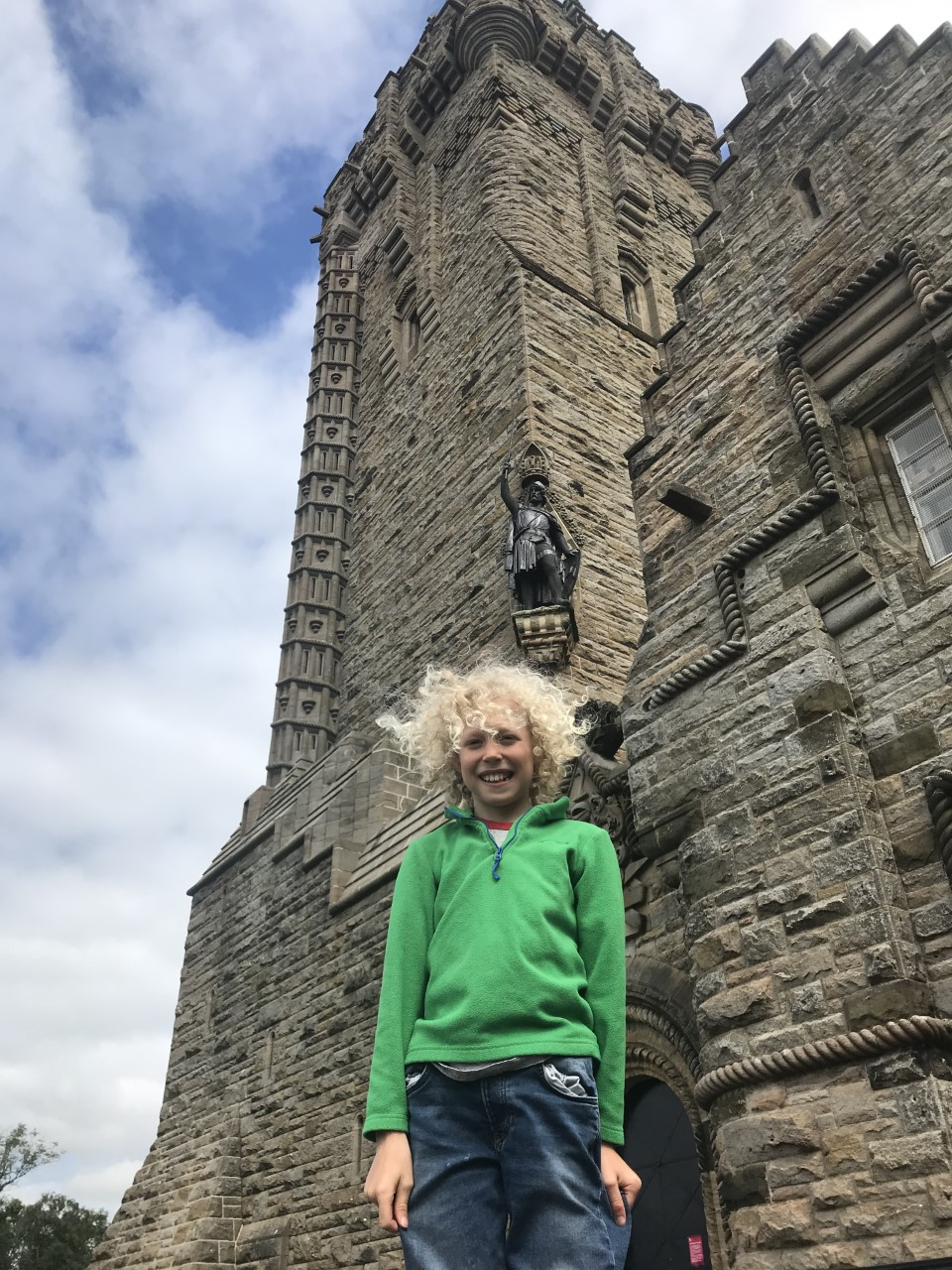 child at the wallace monument
