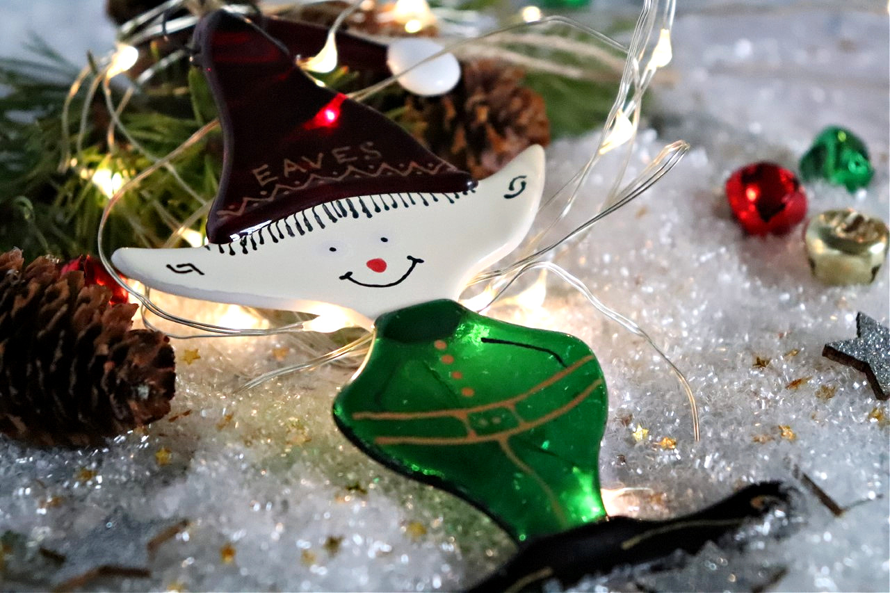 glass elf tree decoration