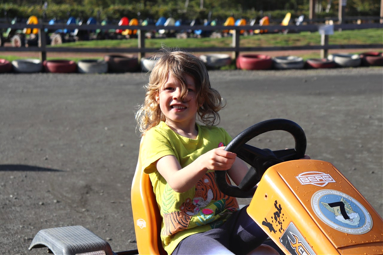 kids on go-karts