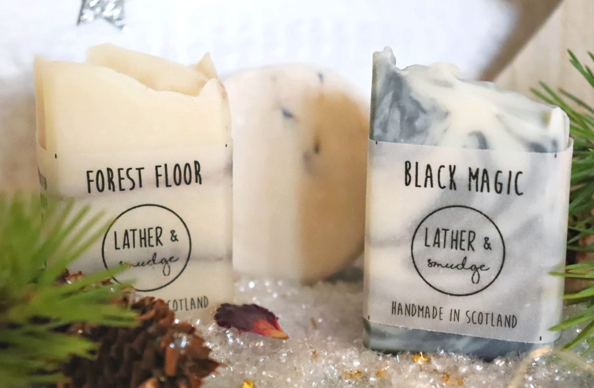 Lather and Smudge soaps