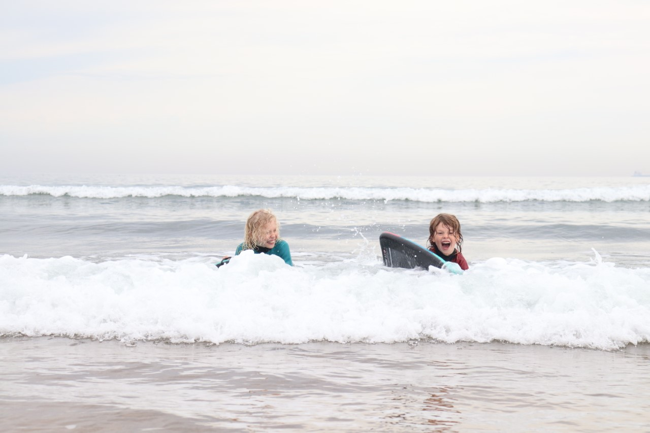 body boarding in Scotland