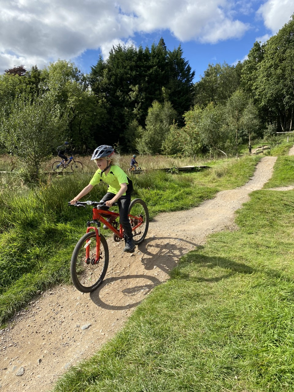 cycling at Comrie Croft
