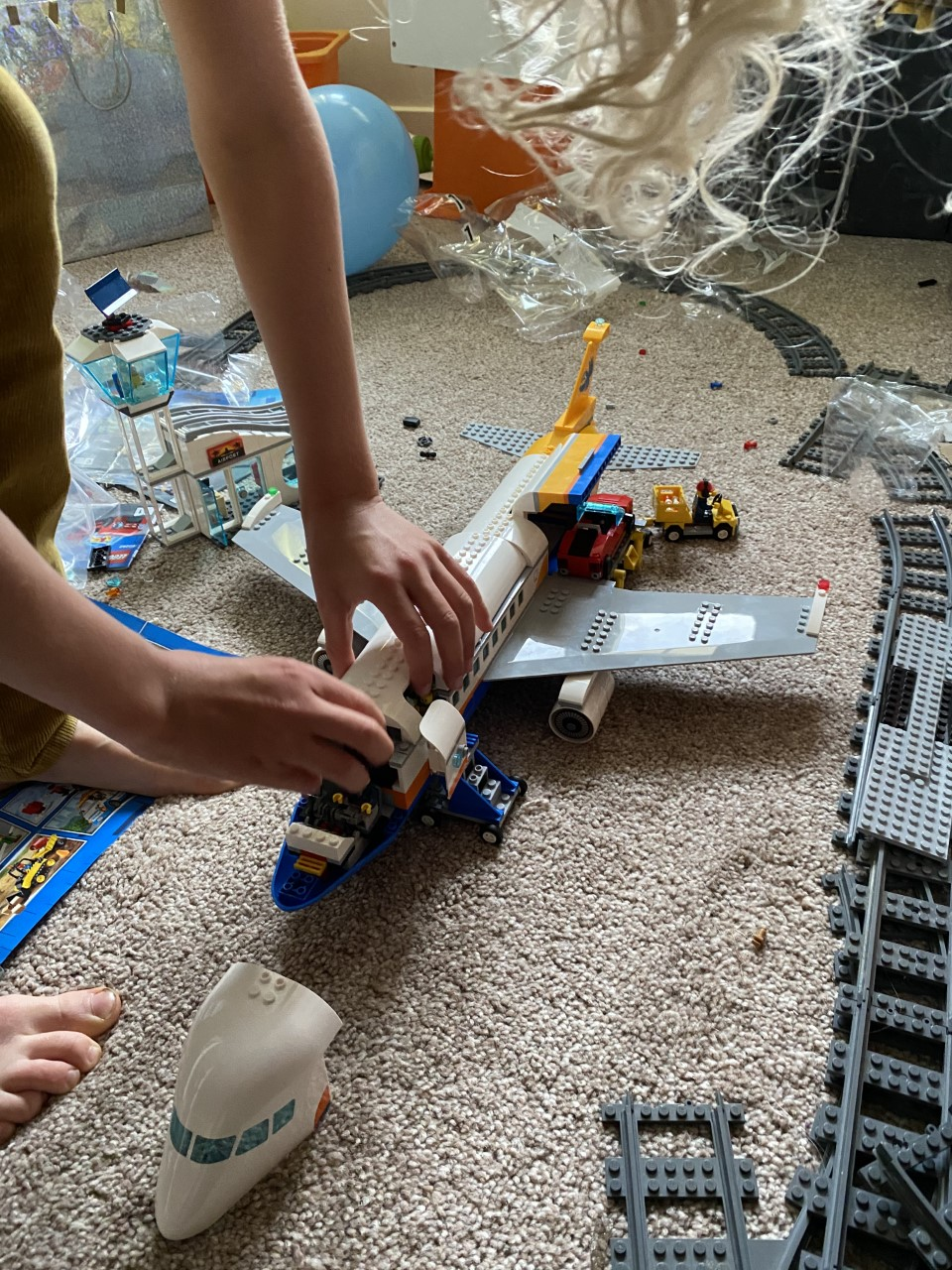 Lego airplane construction 9 year old