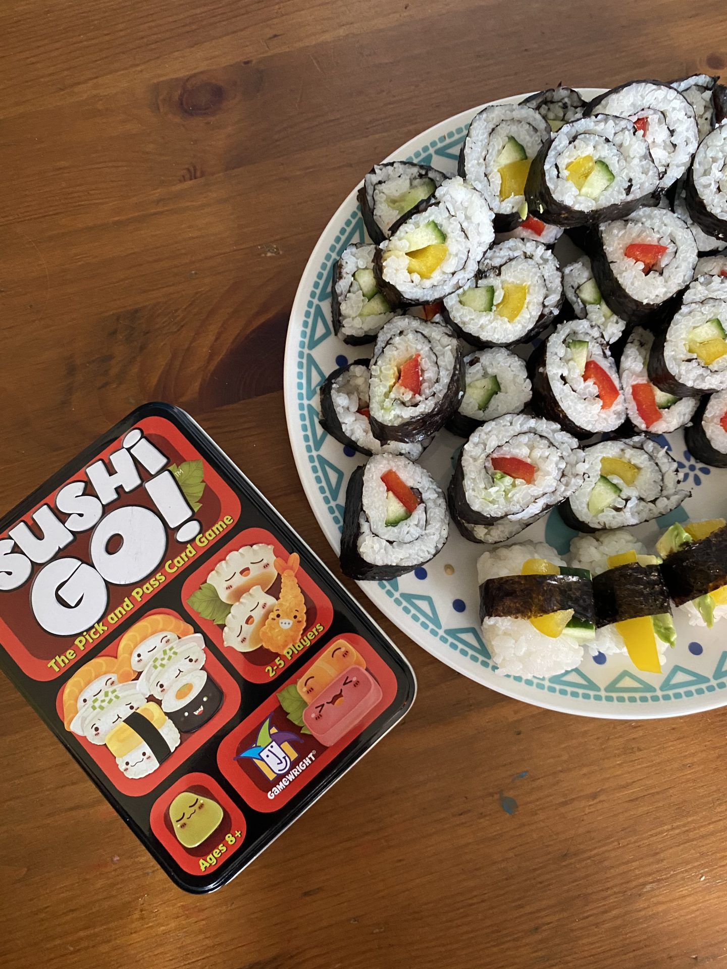 sushi go and homemade sushi