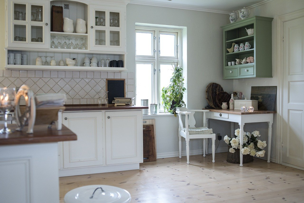 tidy traditional looking kitchen