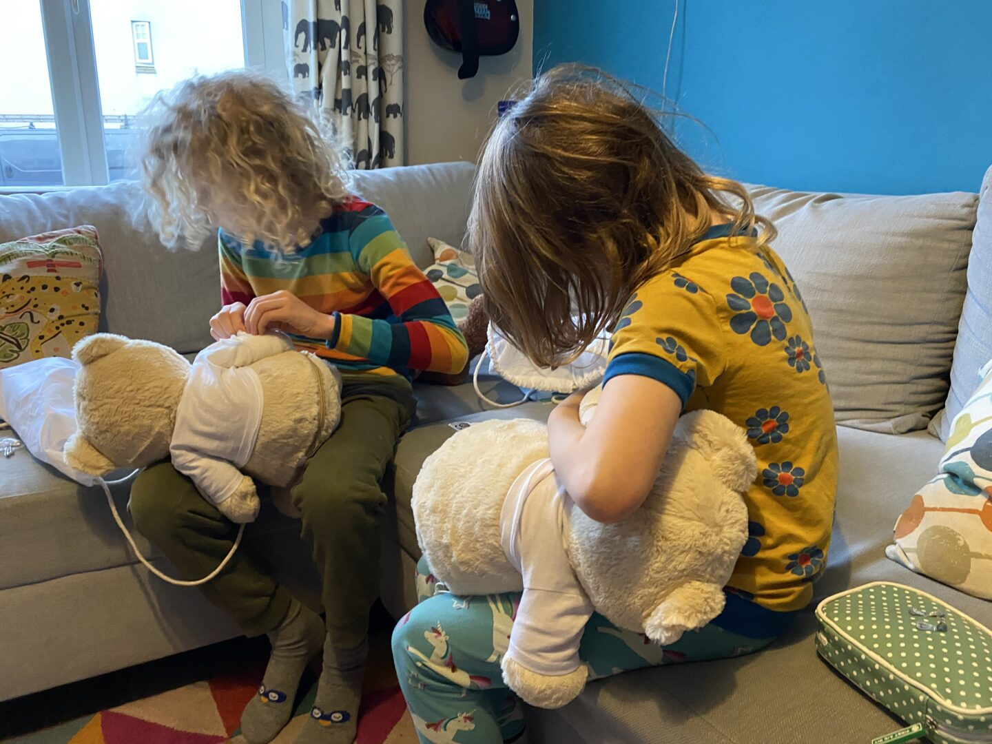 kids first aid course, wrapping teddies in bandages