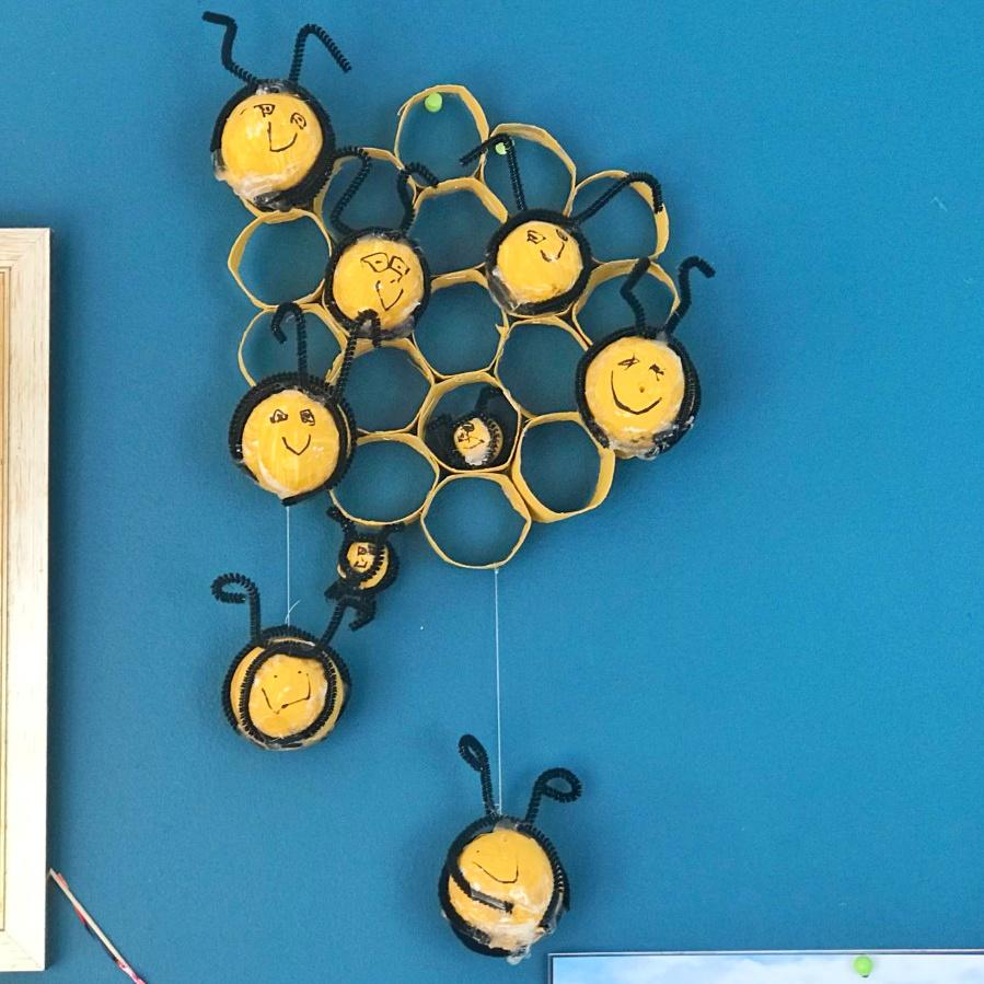bee hive and ball craft